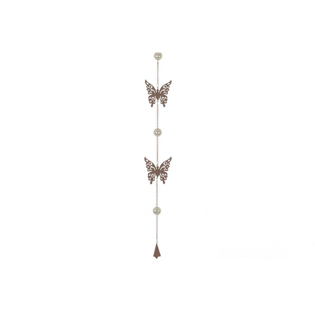 Zvonkohra kovová dekorácia,10x120cm