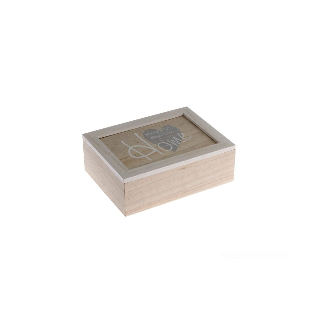 Krabička na čaj drevená home 23×7,5×17,5cm