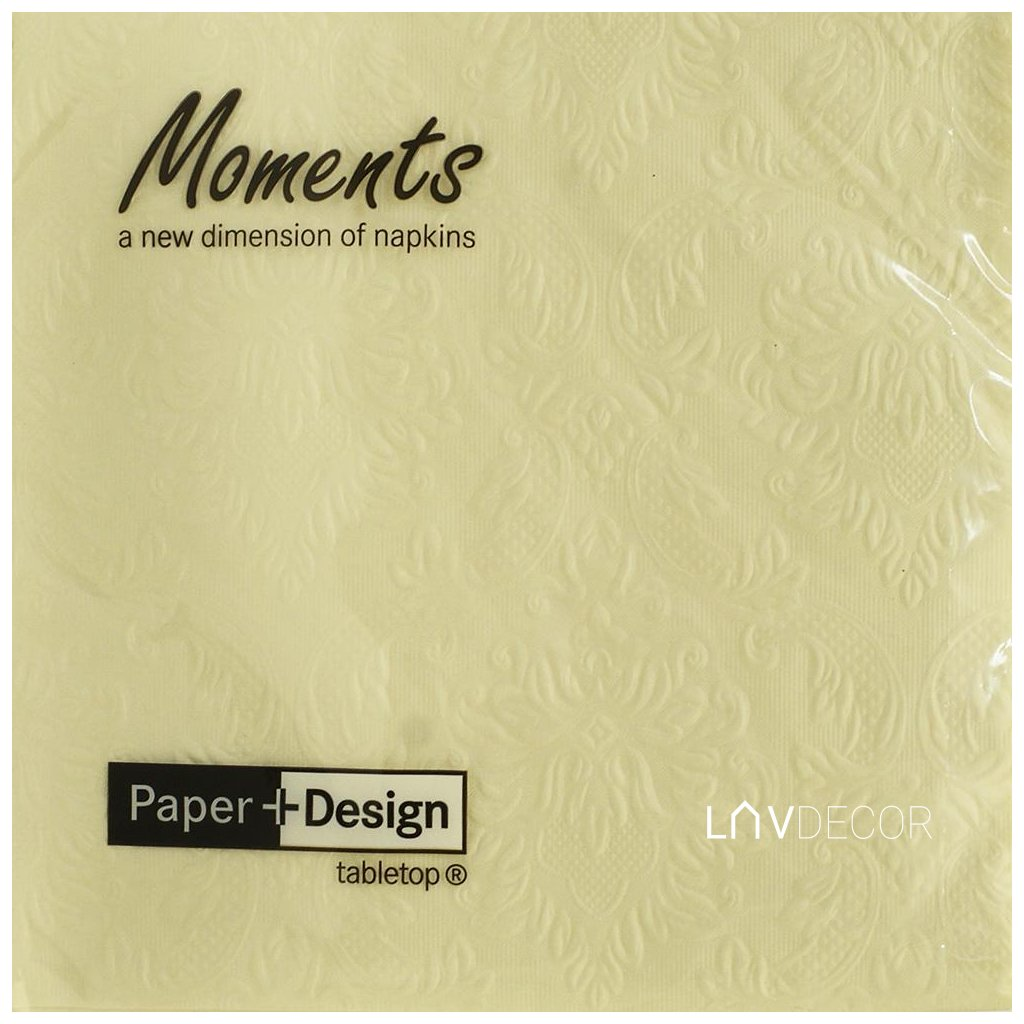 24043 MOMENTS ORNAMENT CREAm33X33CM
