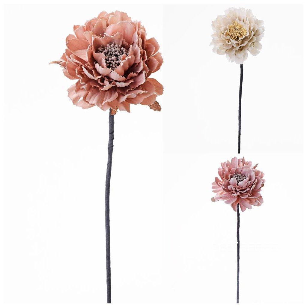 RUŽA umelý kvet  3 FARBY JEMNÉ 10xV40cm CENA ZA JEDEN KUS