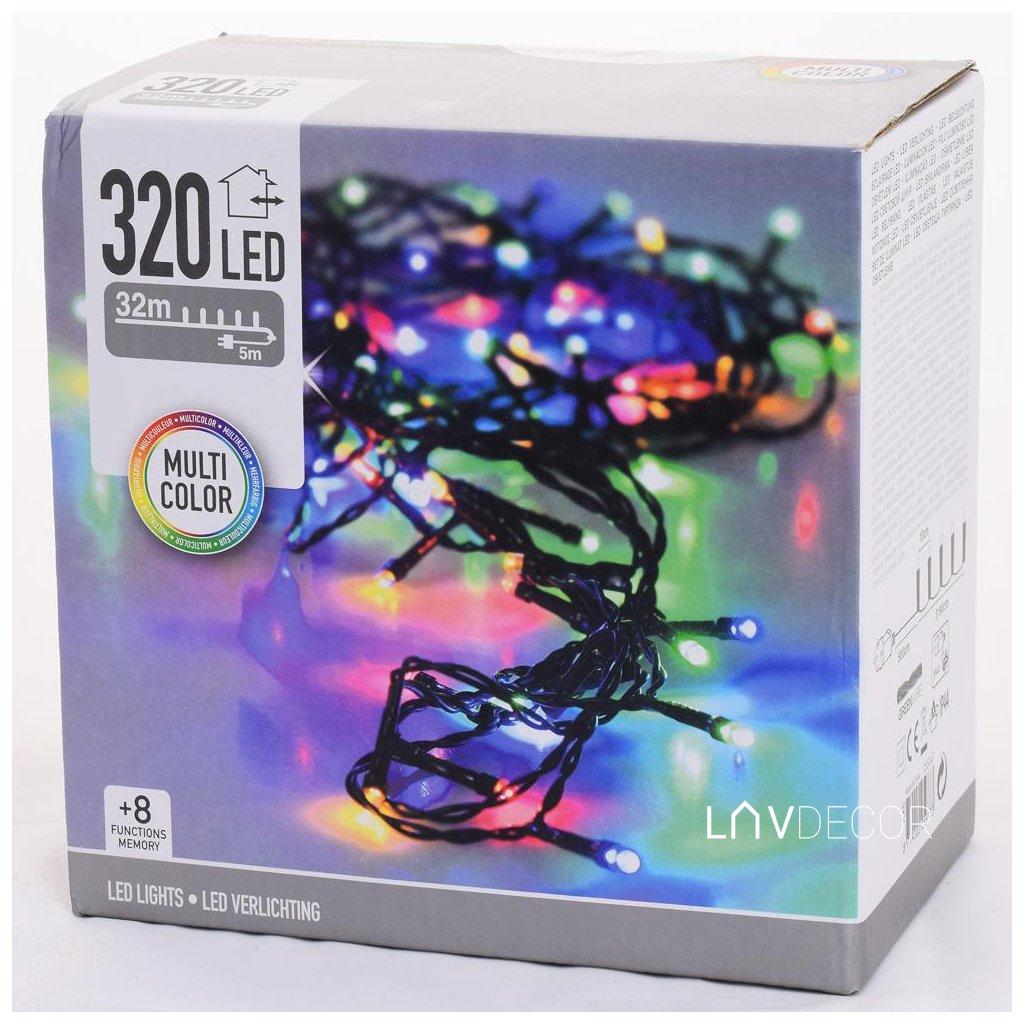 vianočné osvetlenie 320 LED SVETIELKA FAREBNÉ