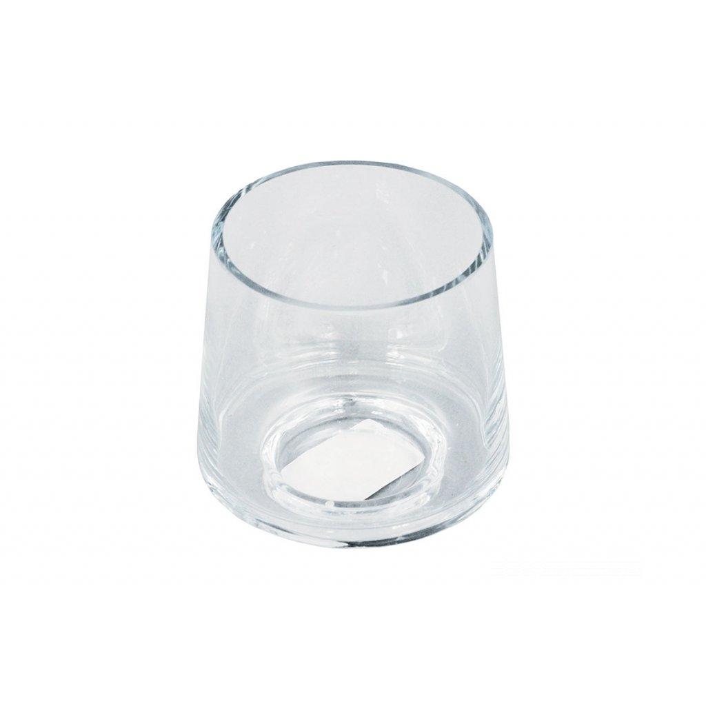 Váza sklenená číra 8x9,5x9cm