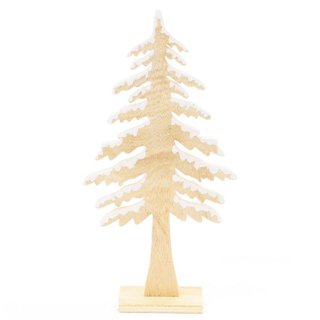 vianočný Stromček Drevený NATural 15,5X5X30CM