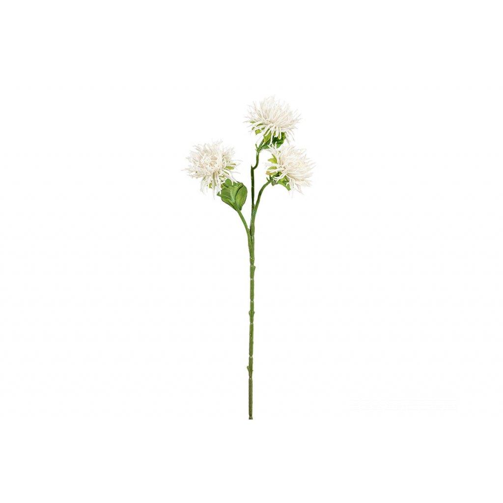 Umelá kvetina - Chryzantéma,biela,60cm