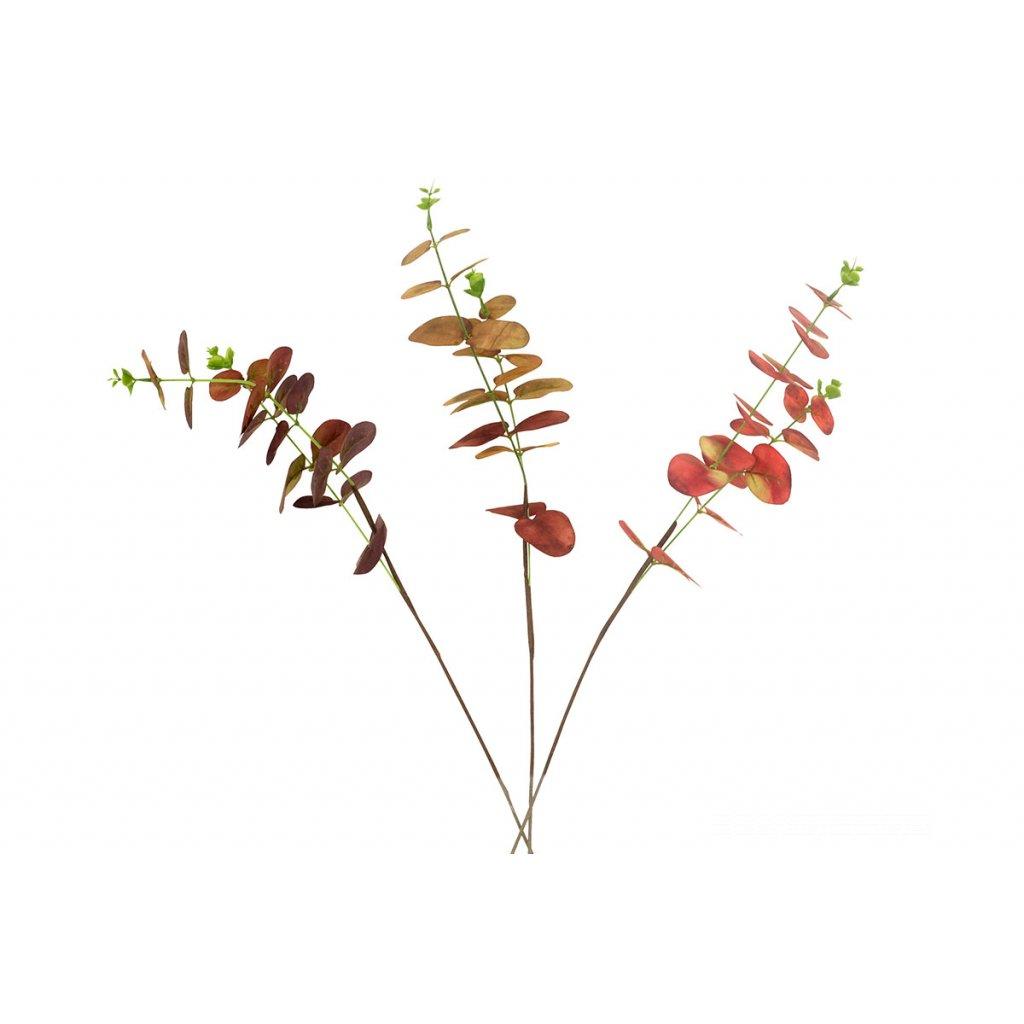 Umelá kvetina- eukalyptus, mix 3 jesenných farieb,51cm,cena za 1ks