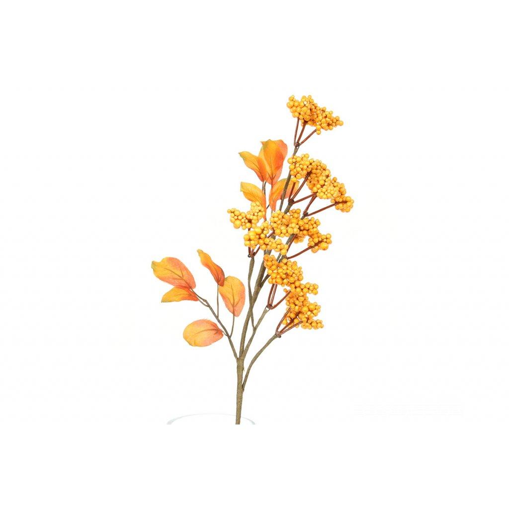 Jesenná vetvička s bobuľkami-tmavšia oranžová 8x40x8cm