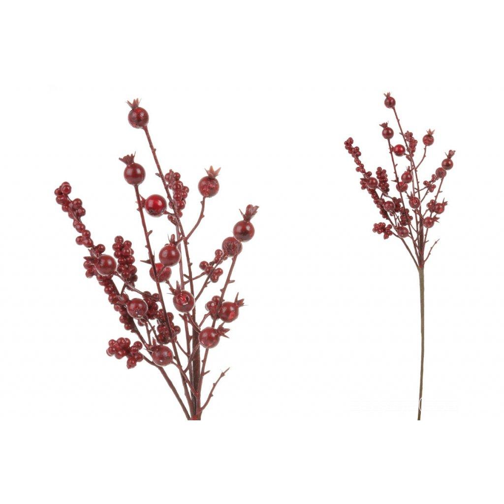 umelá vetvička šípky červené 21cm