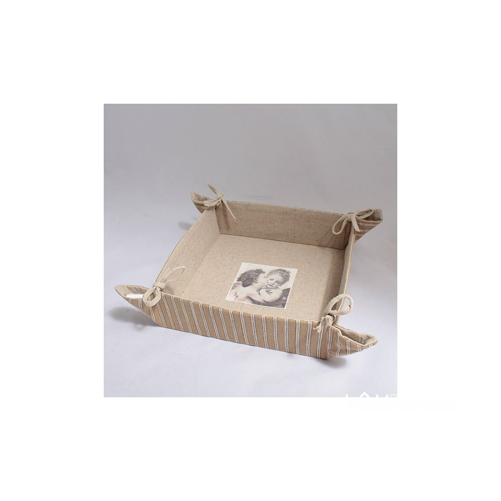 Látkový košík 21 × 6 × 21 cm