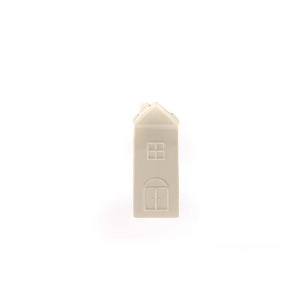 keramický zvlhčovač vzduchu domček krémový 7×19×3,2cm