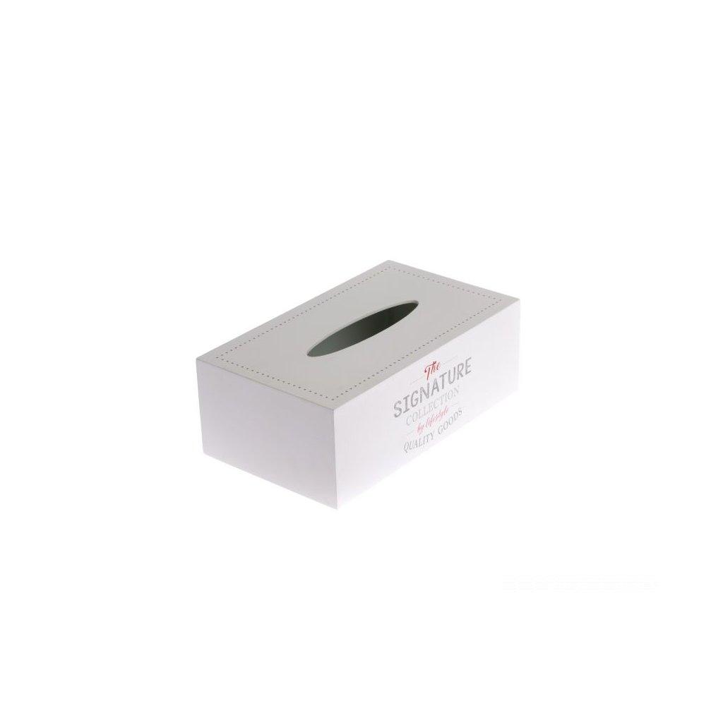 drevená krabička na servítky biela 24×14×8,5cm