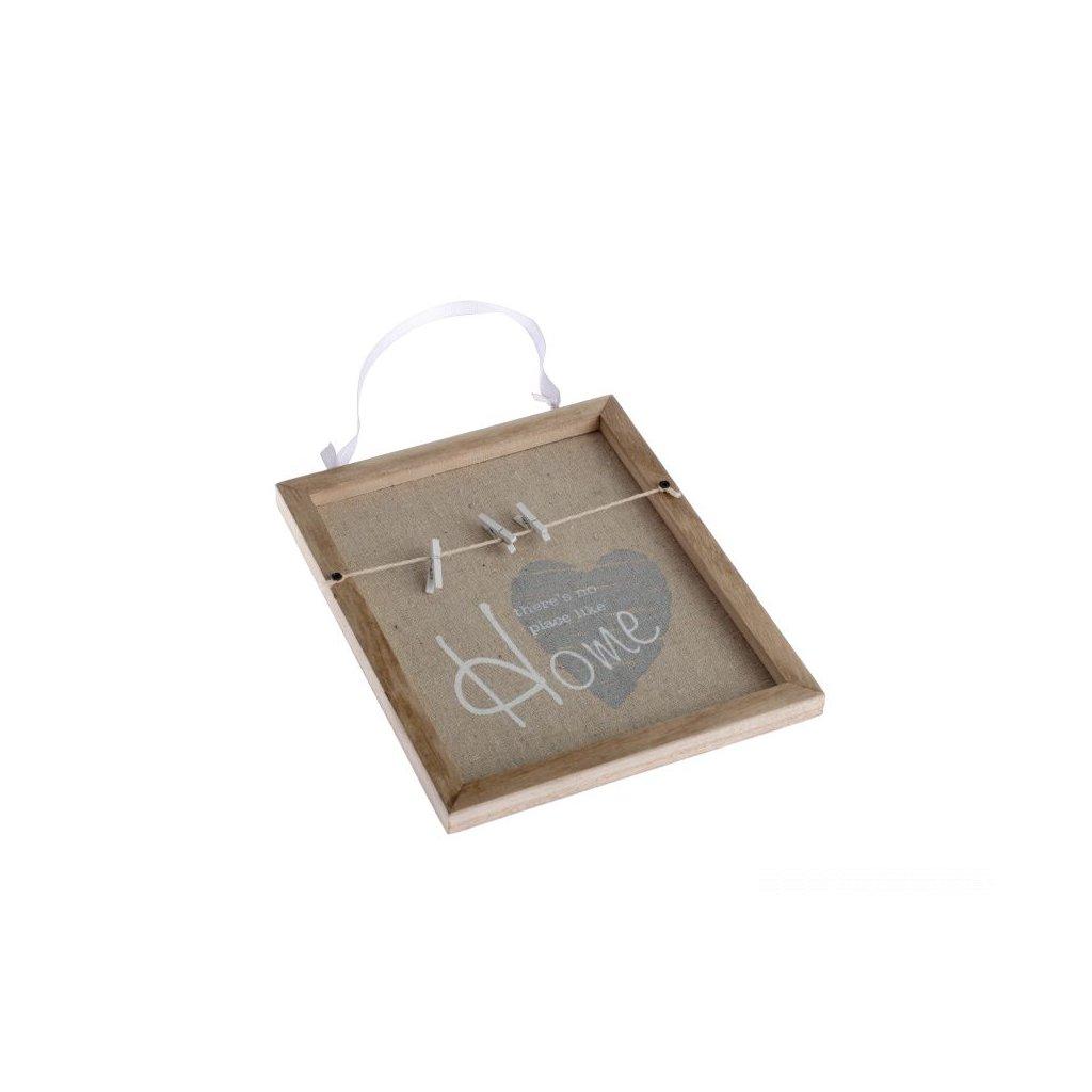 Tabuľa so štipcami home 17×21×1,5cm