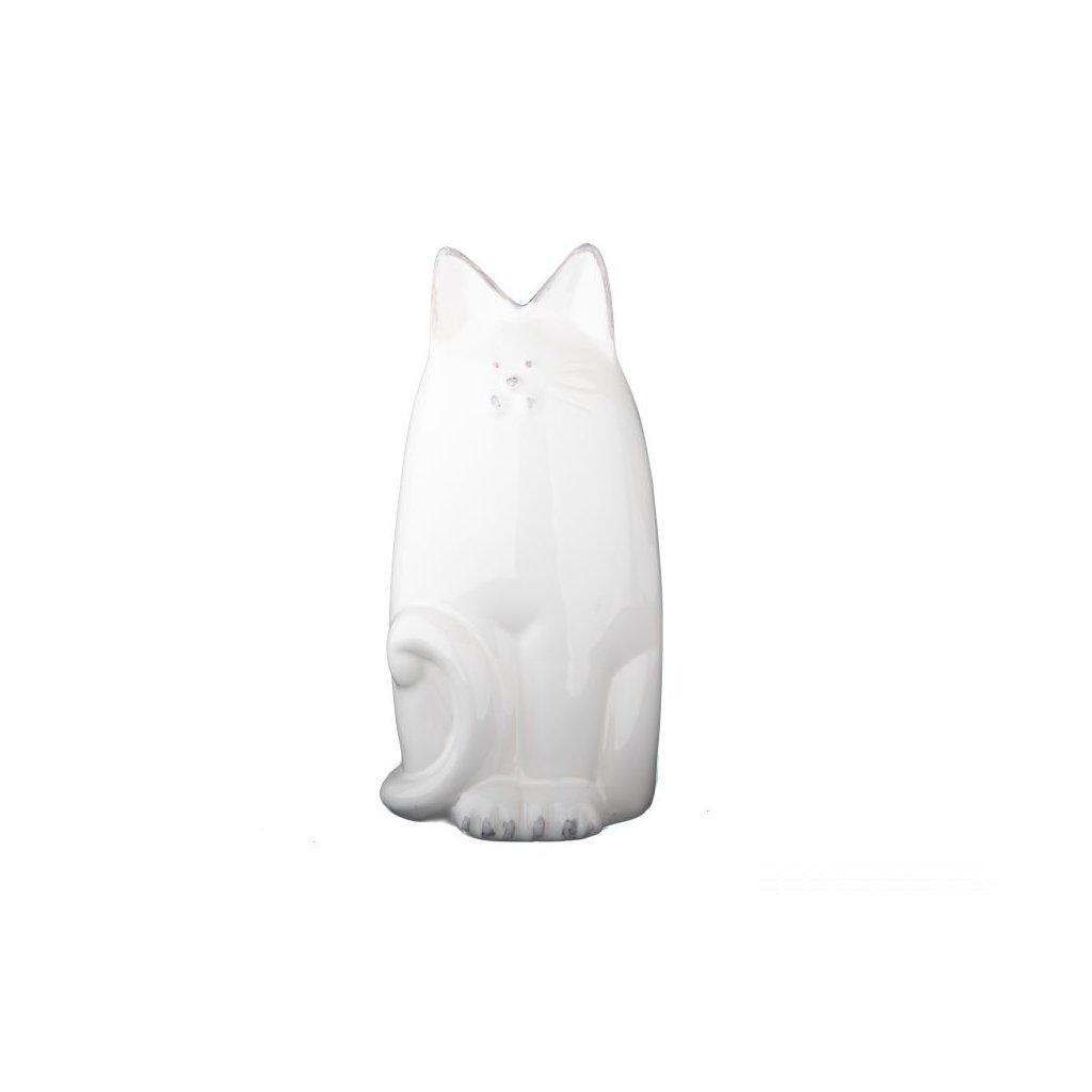 pokladnička mačička keramická biela 8×14,5×7,5cm