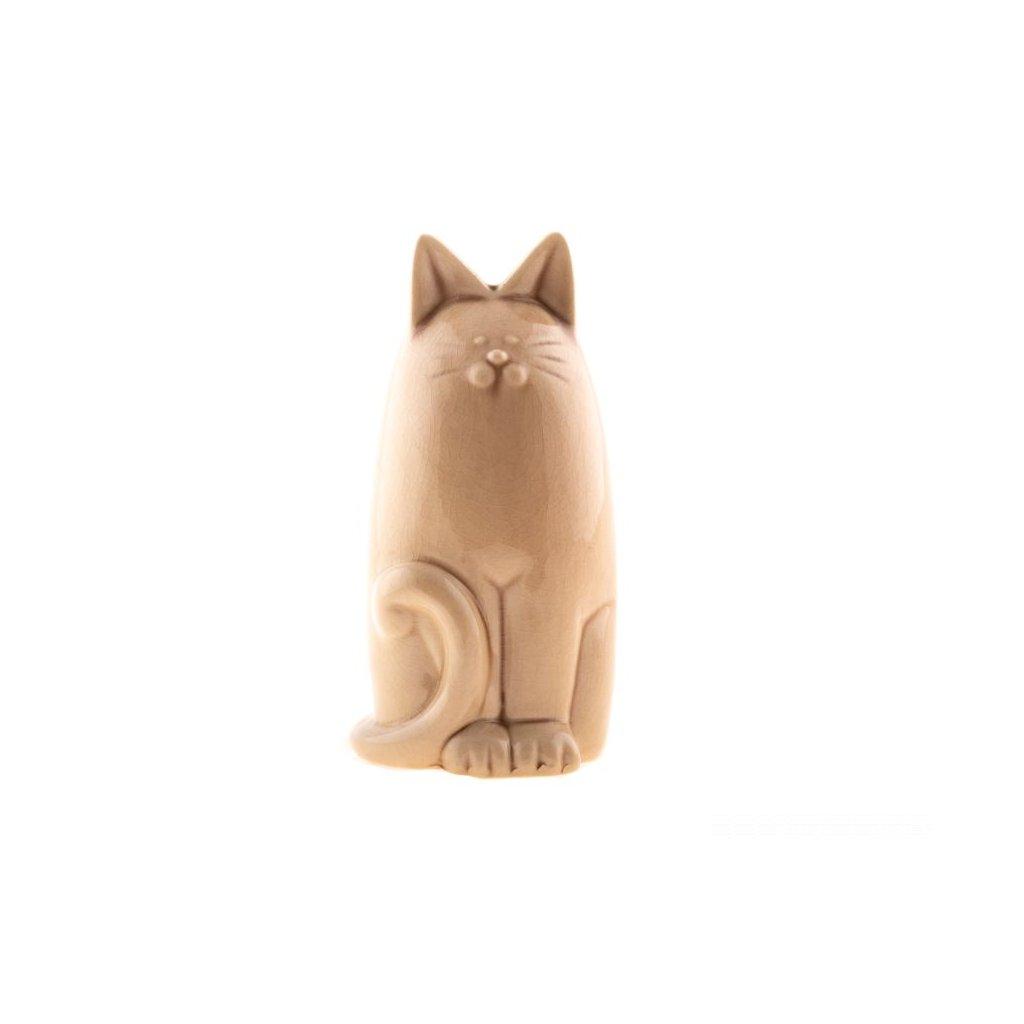 keramická pokladnička mačička béžová 10×19,5×9,5cm