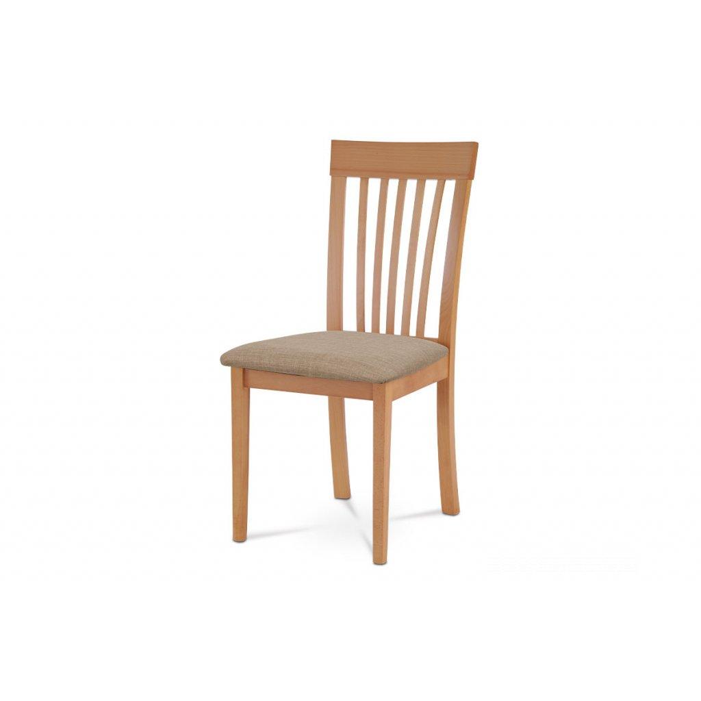 jedálenská stolička, buk/látka béžová