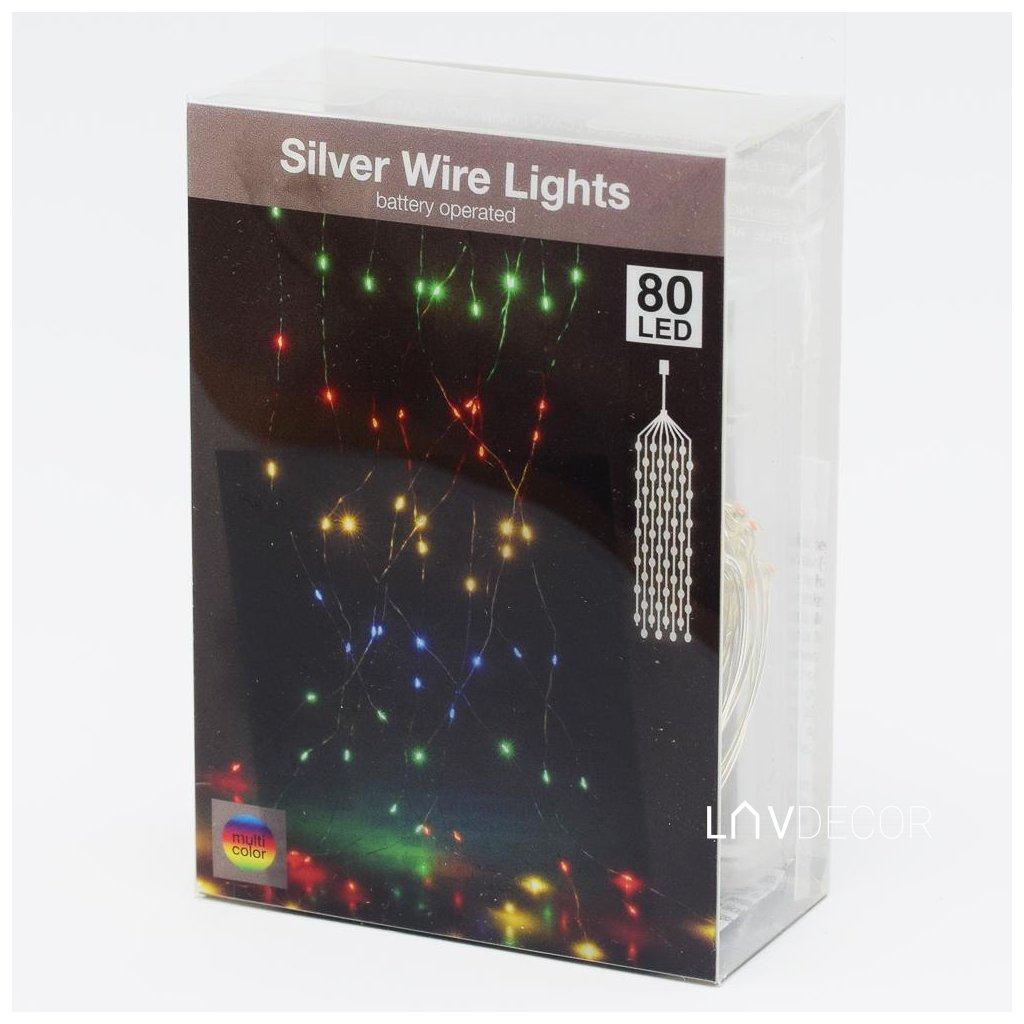 LED SVETIEL NA DRôT/80L/ MULTI,IND,BATER