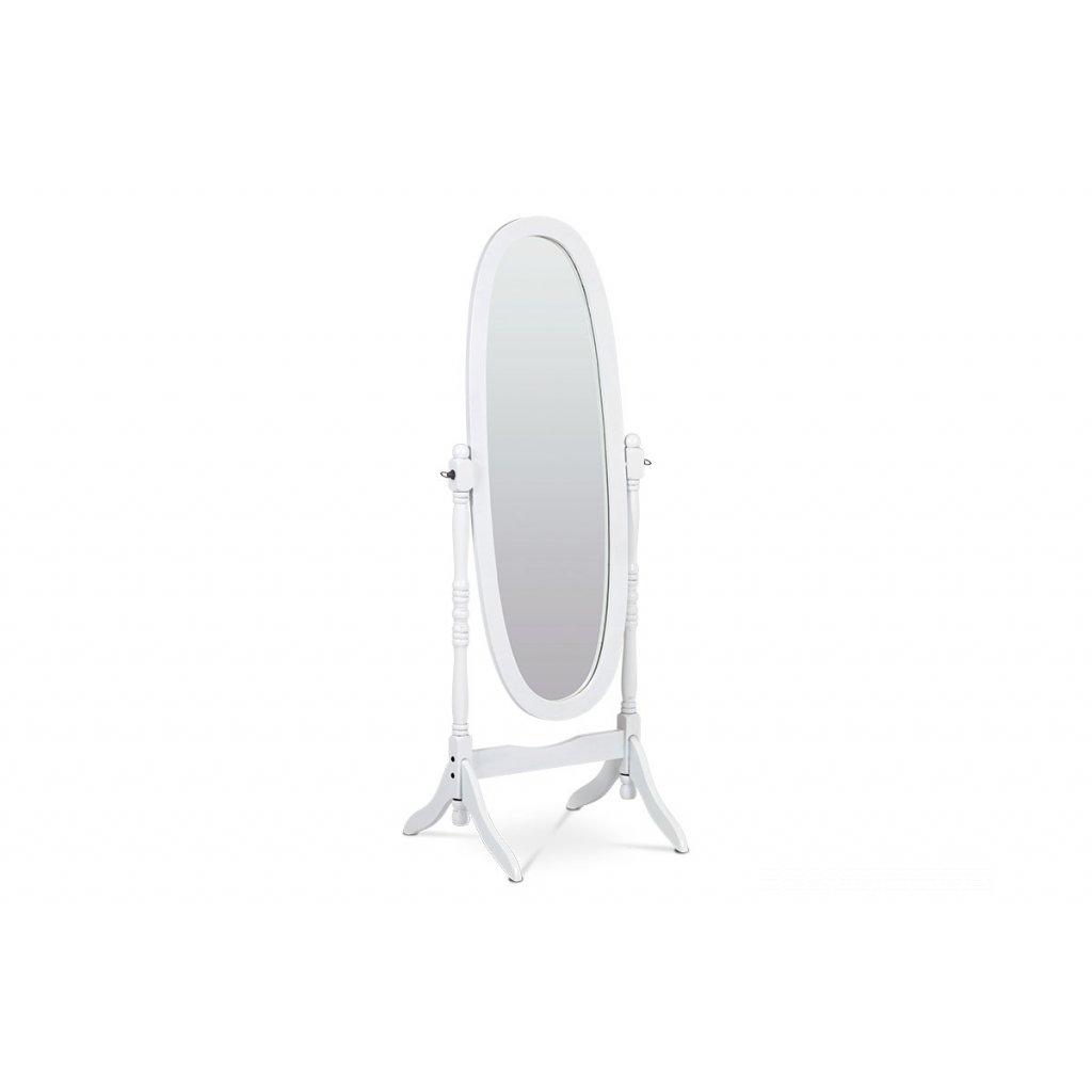 zrkadlo drevené oválne biele 52x51x151cm