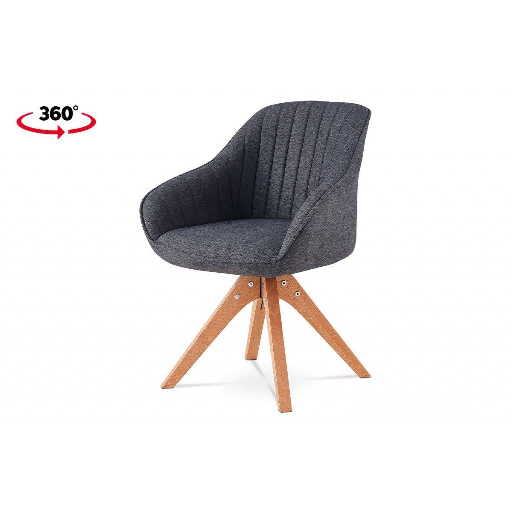 jedálenská stolička, látka sivá, nohy masiv buk