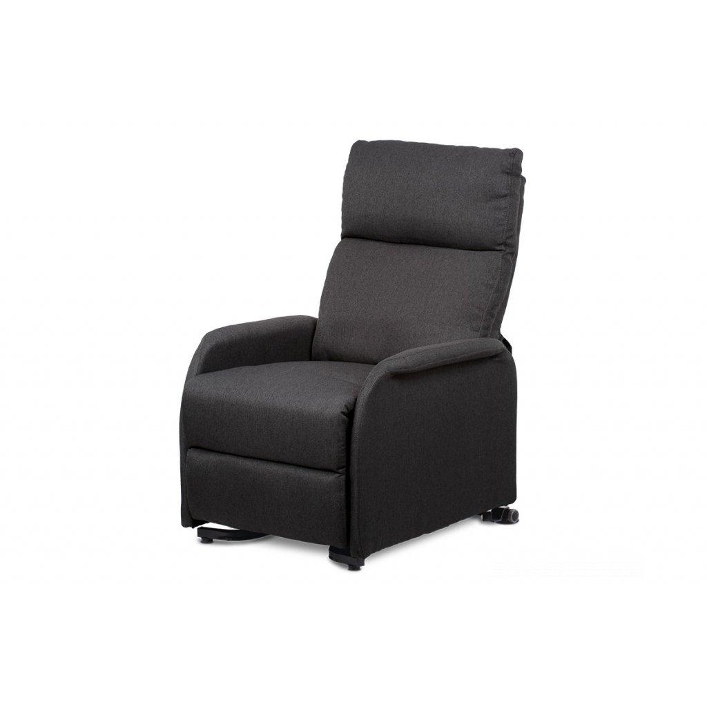 relax kreslo, sivá ekokoža/elektrické polohovanie