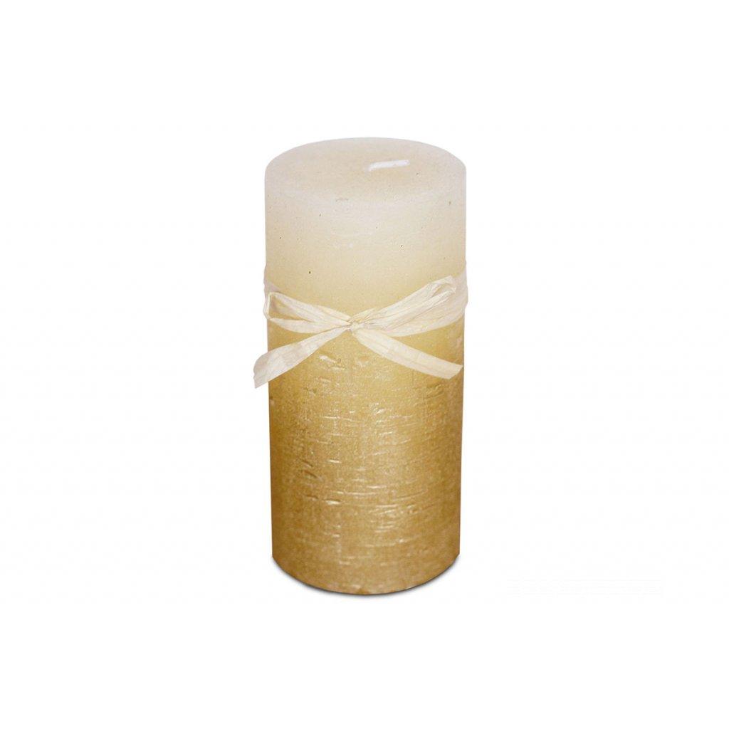 Sviečka, zlato-ľadový efekt, 426g vosku