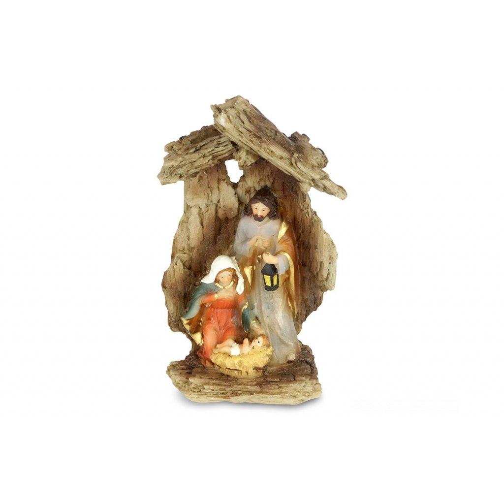 Betlehém, dekorácia z polyresinu 8x13x5cm