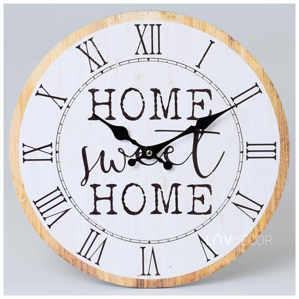 HODINY NÁSTENNÉ HOME SWEET HOME 34CM