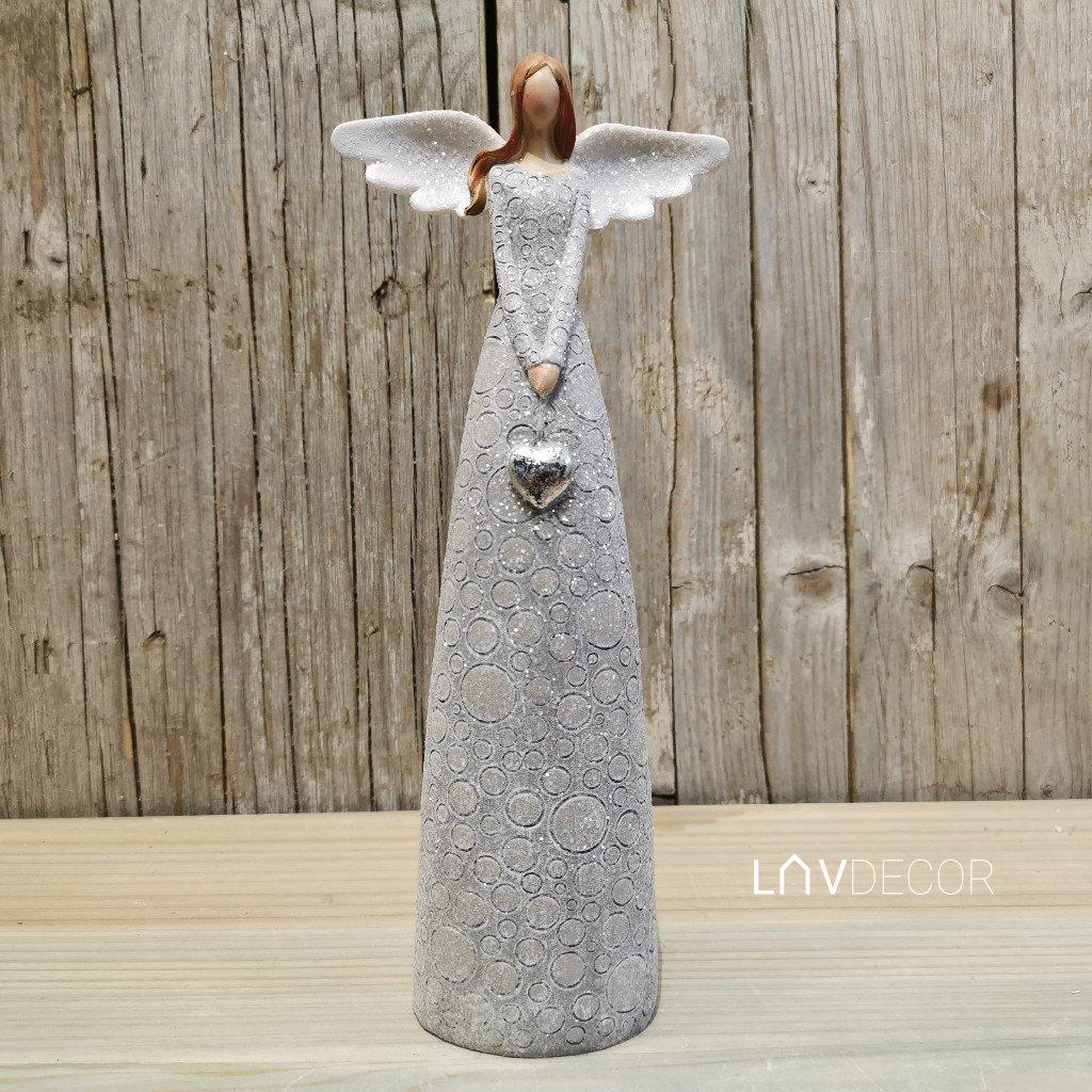Anjel, dekorácia z polyresinu 15x36,5x8cm