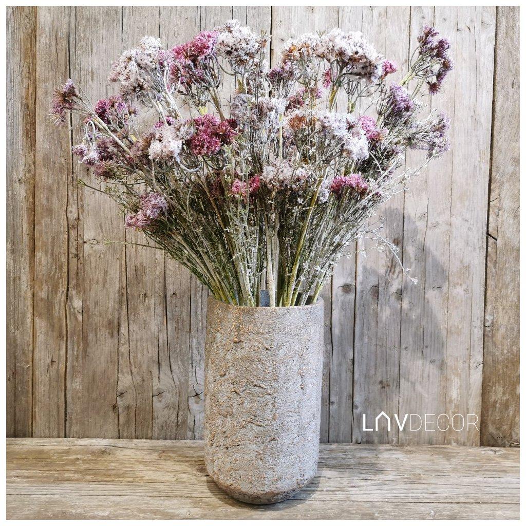 Betónová váza na kvety 16x16x27cm