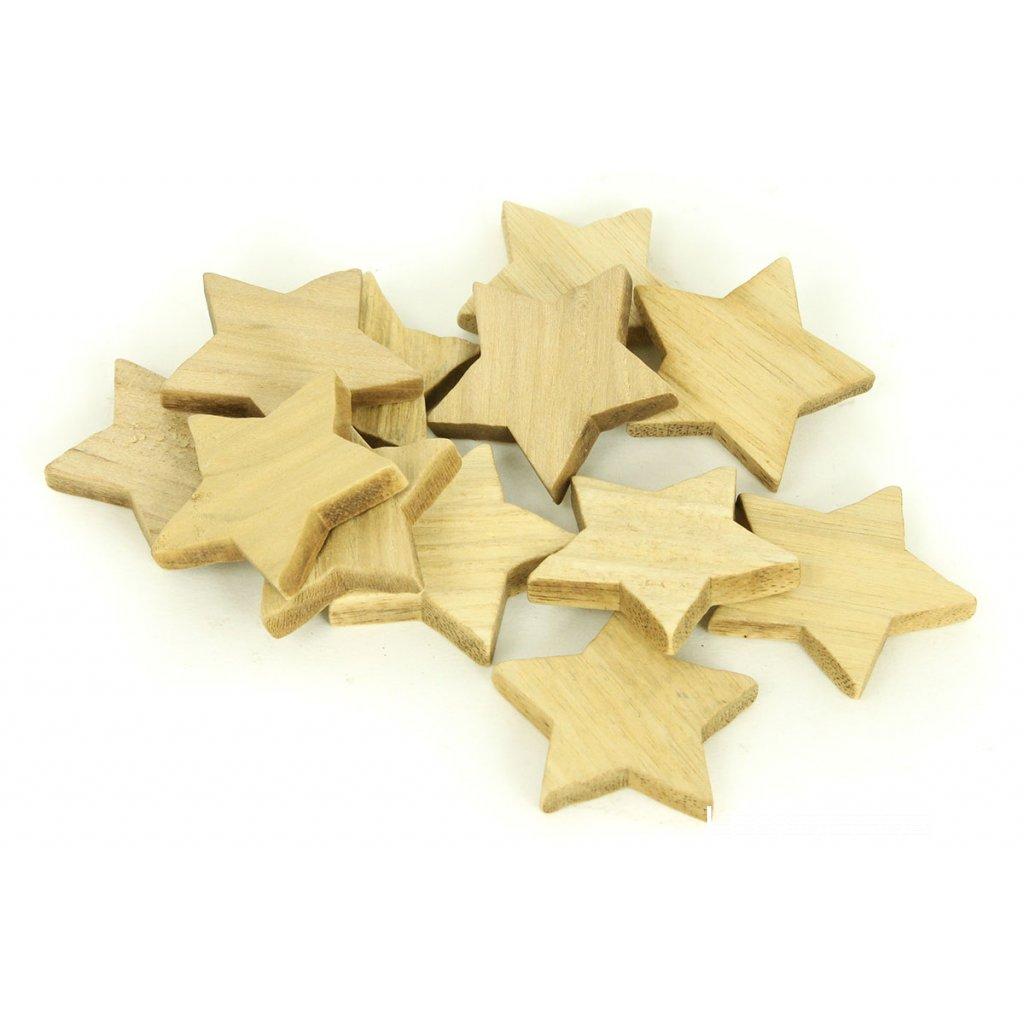 Hviezdička, drevená dekorácia cena za 1KS  4cm