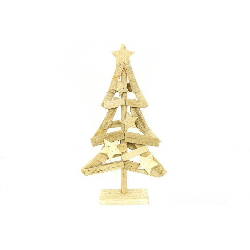 Vianočný stromček drevená dekorácia 38x70x9 cm