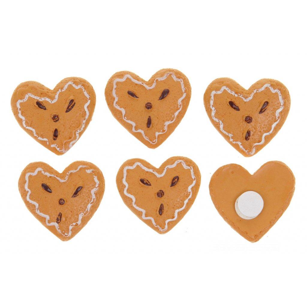 Srdiečko perníkové na prilepenie polyresin  cena za 1ks  2,3x0,5x2,4cm