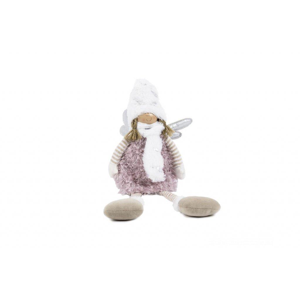 Anjelka, textilná dekorácia, farba ružová