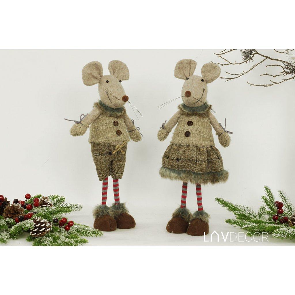 Myš natural textilná dekorácia, cena za jeden kus 16x40x12 cm