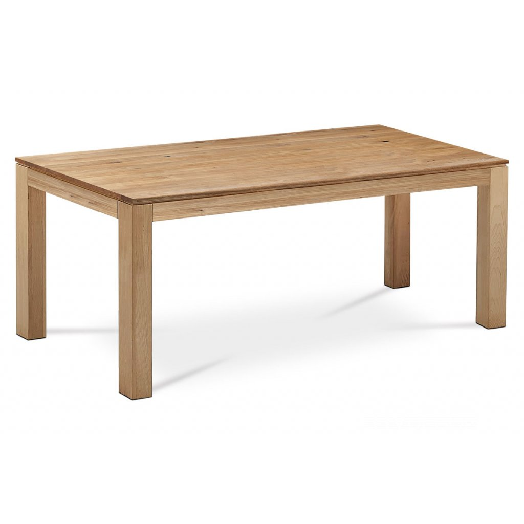 jedálenský stôl 200x100x75 cm, masív dub, povrchová úprava olejom, nohy 10x10 cm