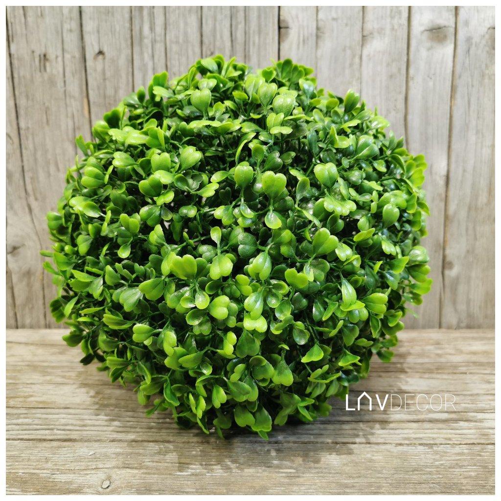 umelá buxusová gúľa zelená 22cm