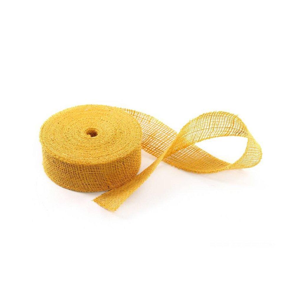 stuha jutová žltá 5cmx20m