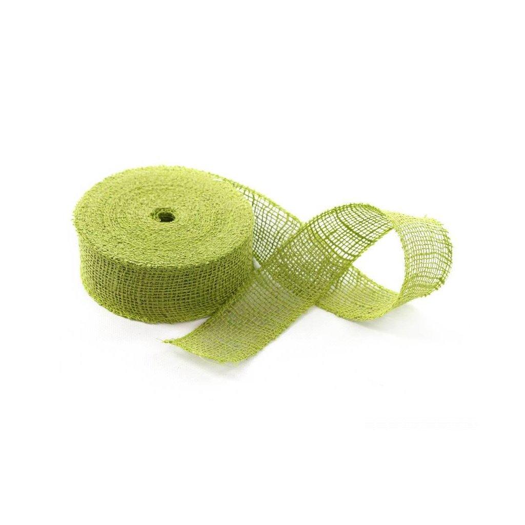 stuha jutová zelená 5cmx20m