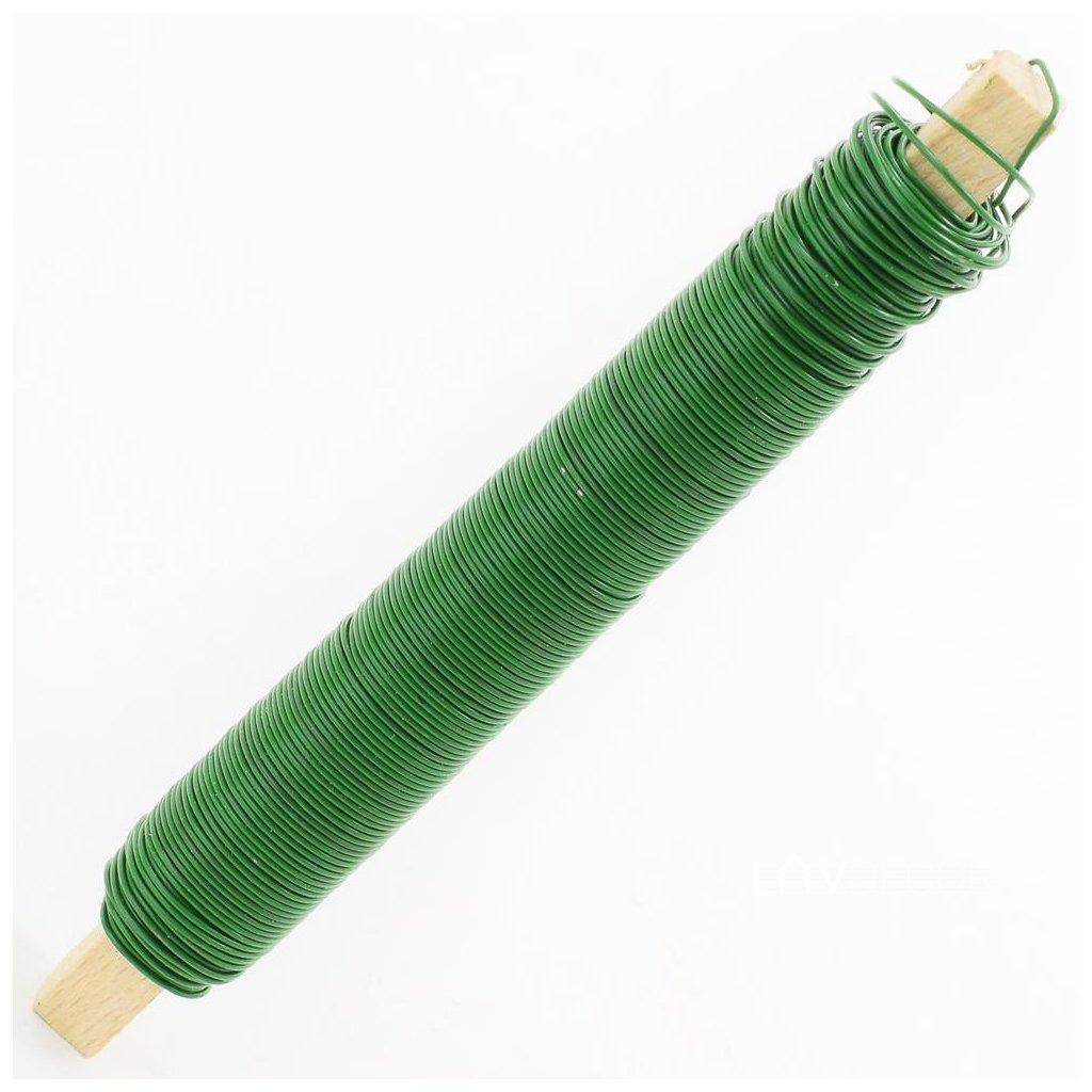Drôt navíjaný zelený 0,65mm/100g