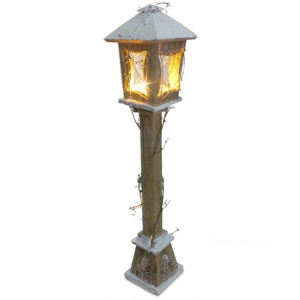vianočná rozprávková drevená LAMPA LED PRÍRODNÁ 80CM na baterky