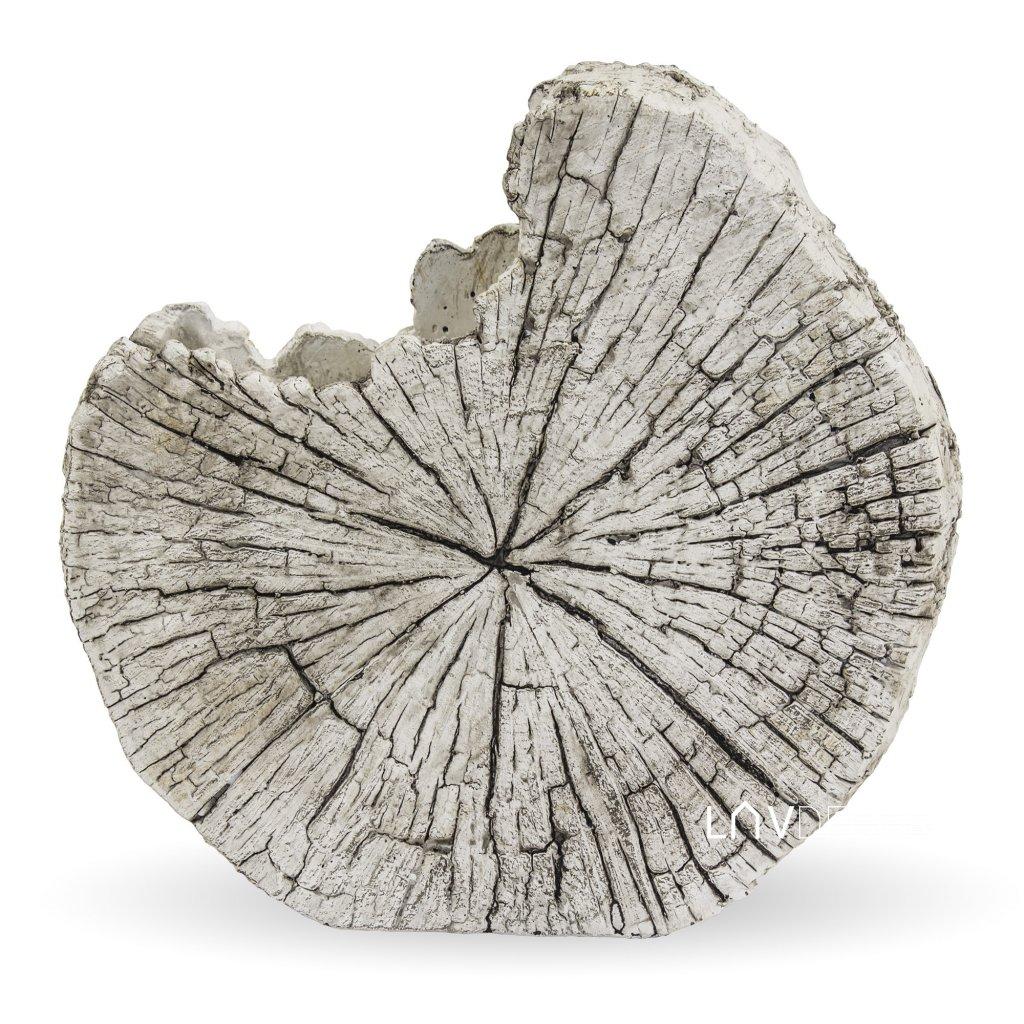 kvetináč betónový plat dreva šedý 28x29x13,5cm