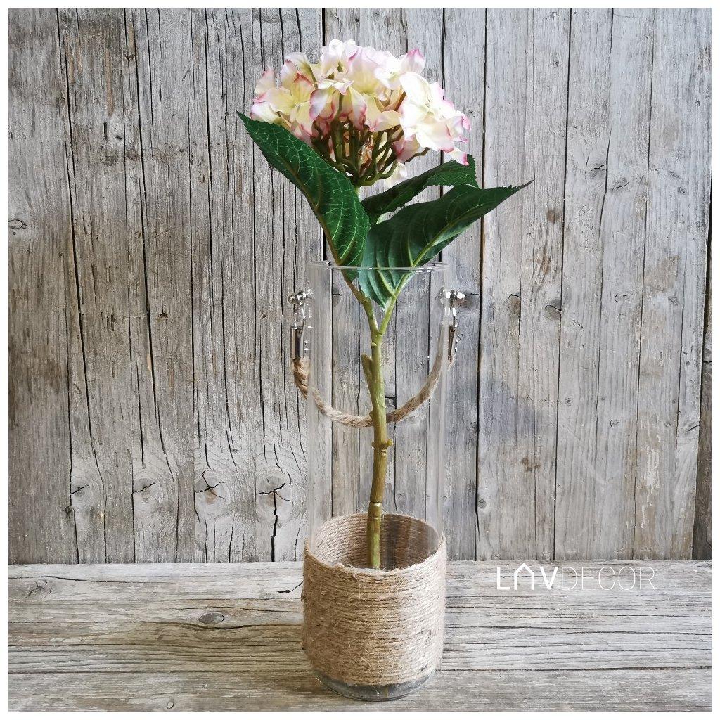 HORTENZIA Bledoružová umelý kvet 50cm