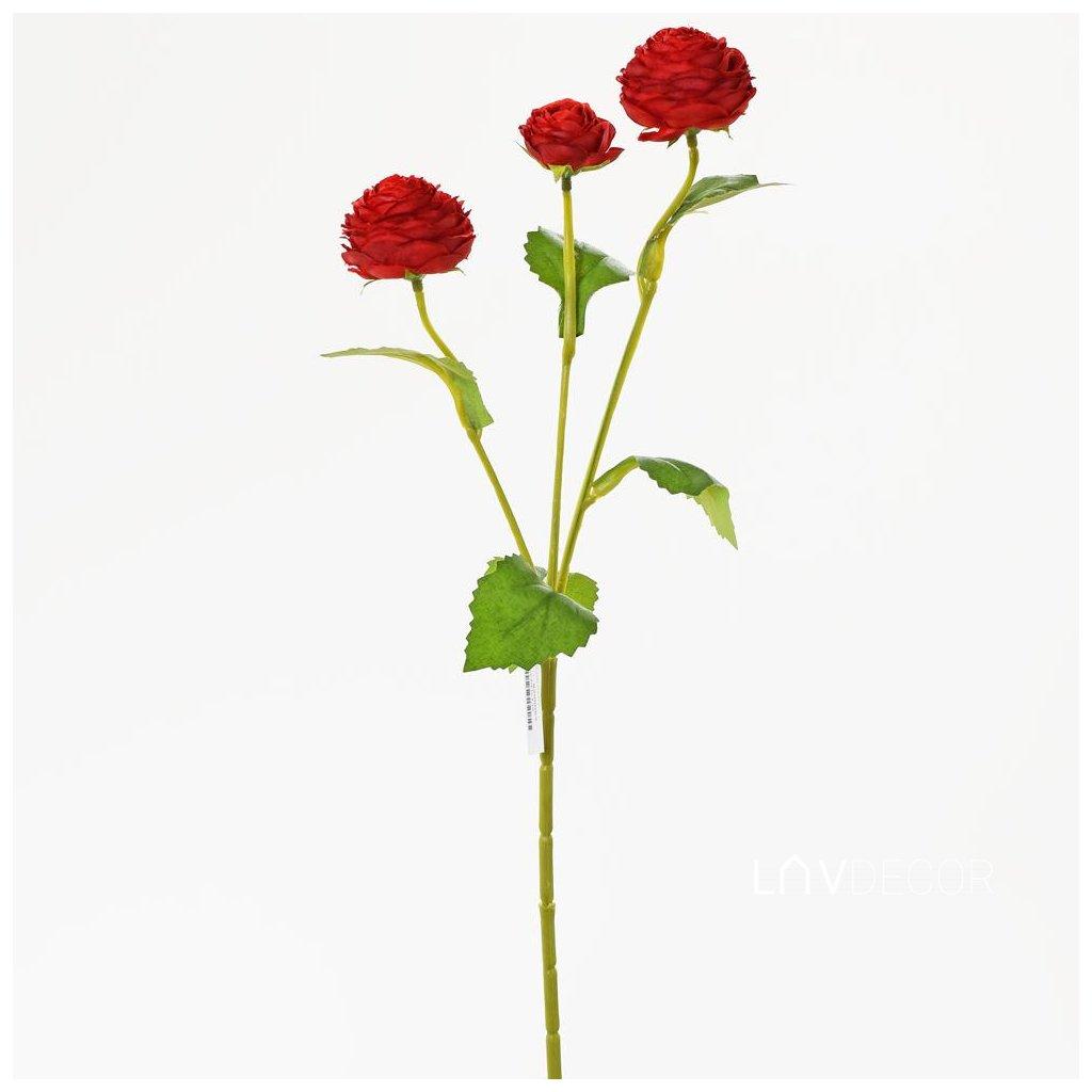 umelý kvet RANUNCULUS ČERVENÝ 43CM
