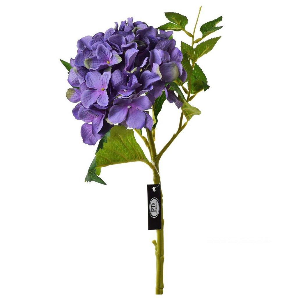 HORTENZIA PURPUR umelý kvet 46cm