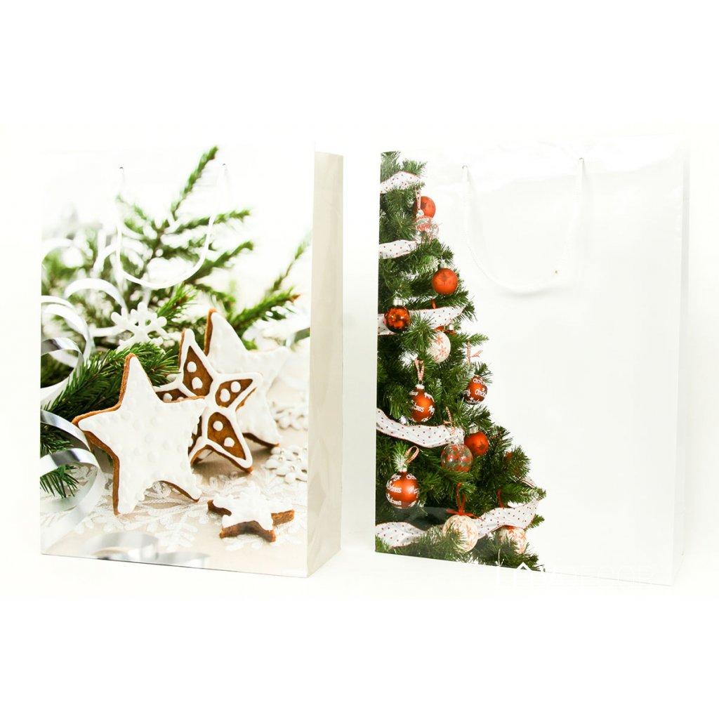 Papierová taška veľká, vianočný motív 25x8,5x34,5cm