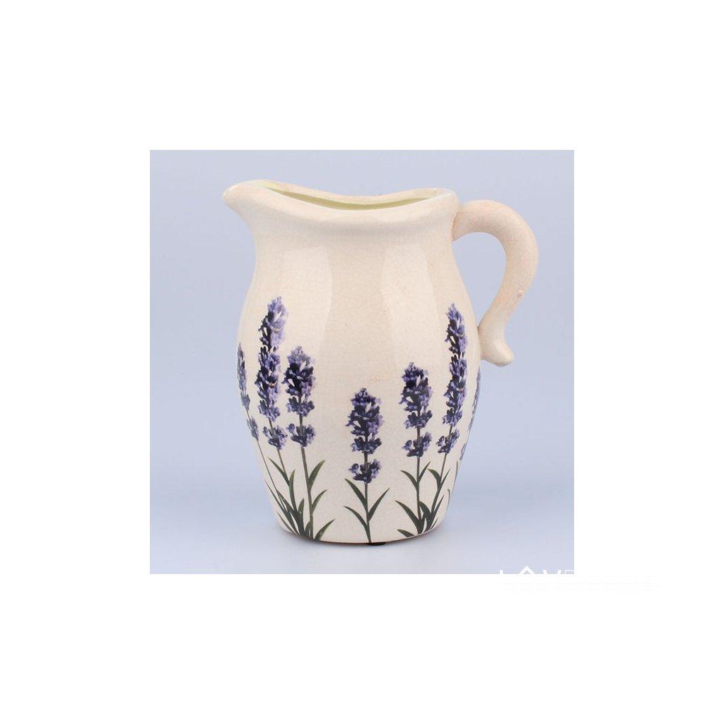 Keramický džbán levanduľa 19 × 21 × 13,5 cm