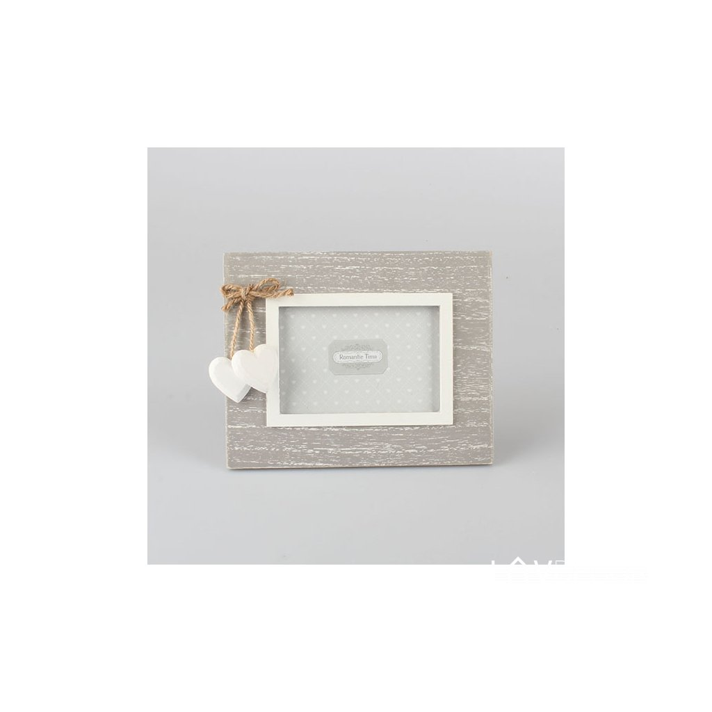 Fotorámik drevený šedo biely 20×16cm