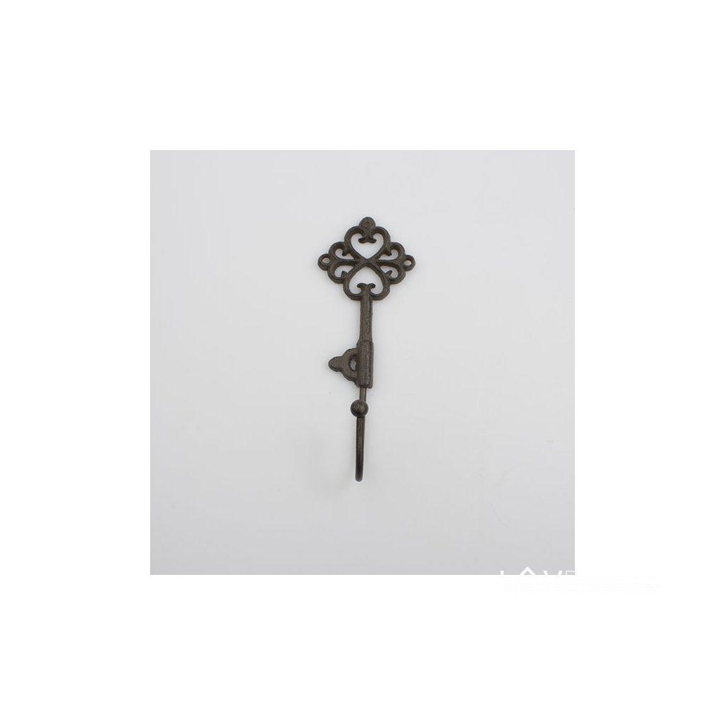 Liatinový vešiak na kľúče 6,5×18×5cm
