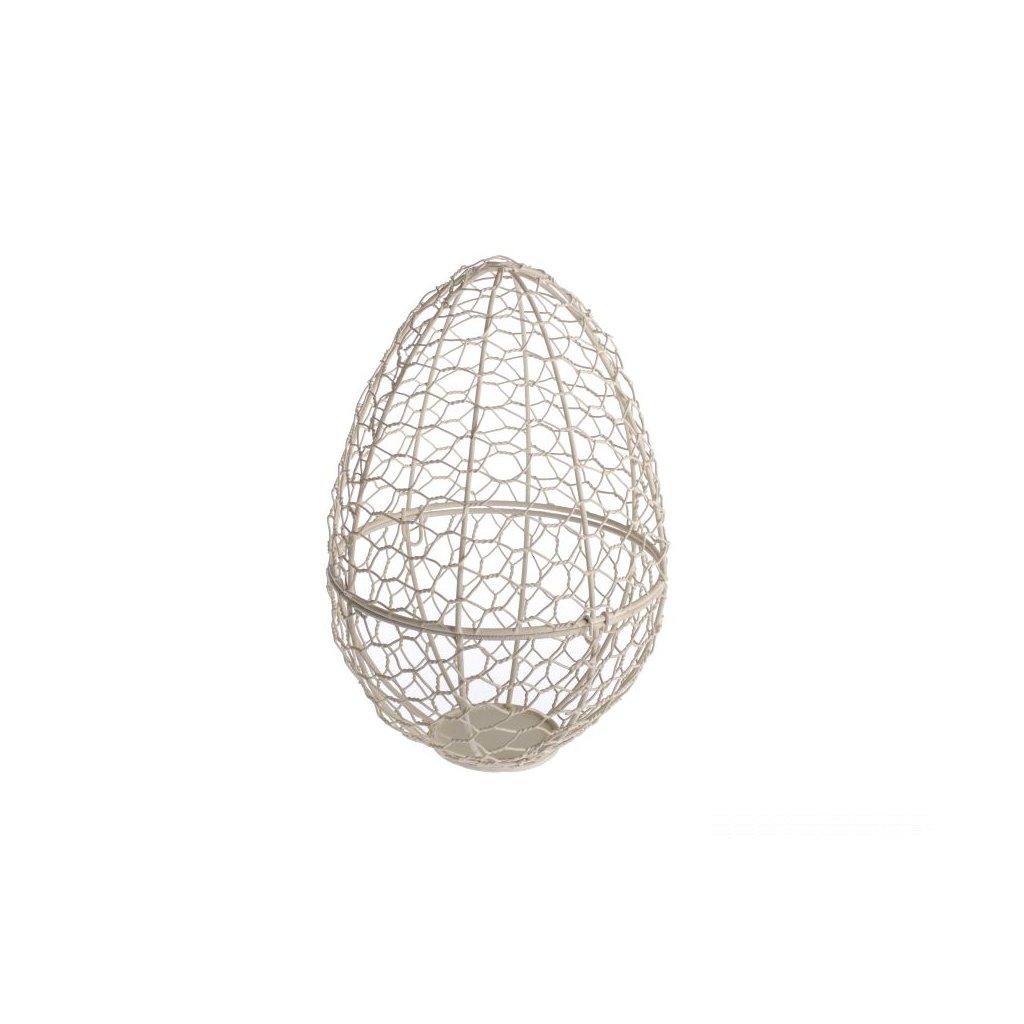 Kovový košík v tvare  vajca