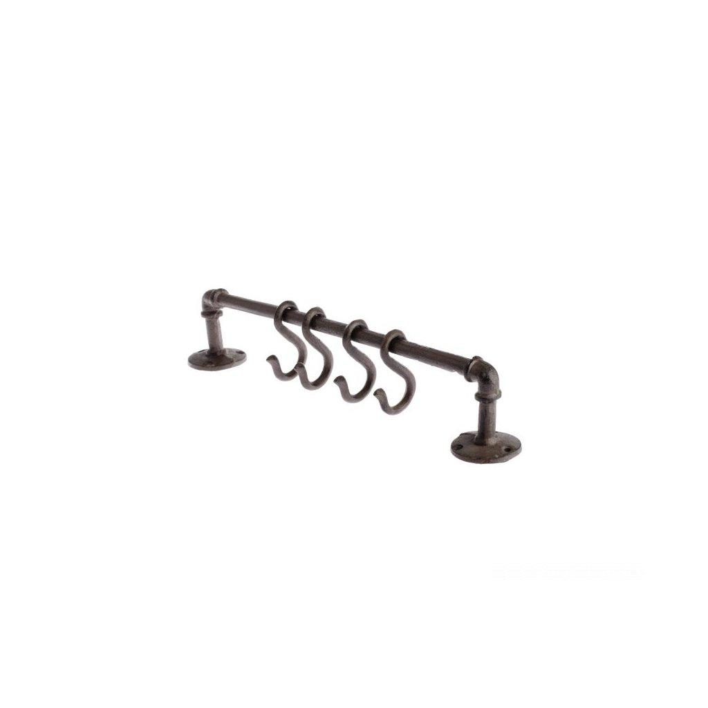 Liatinový vešiak na stenu 40×5,5×7cm
