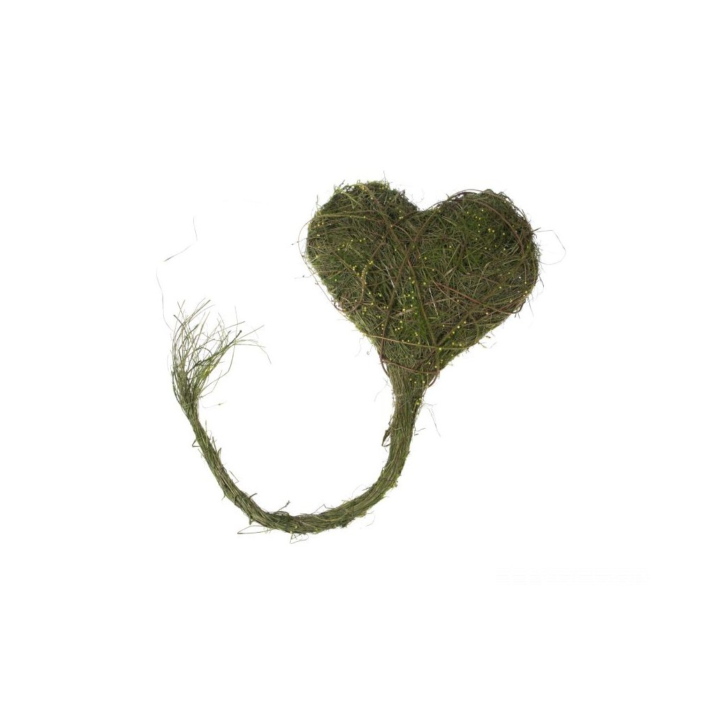Prútené srdce zelené 38 ×100×4cm