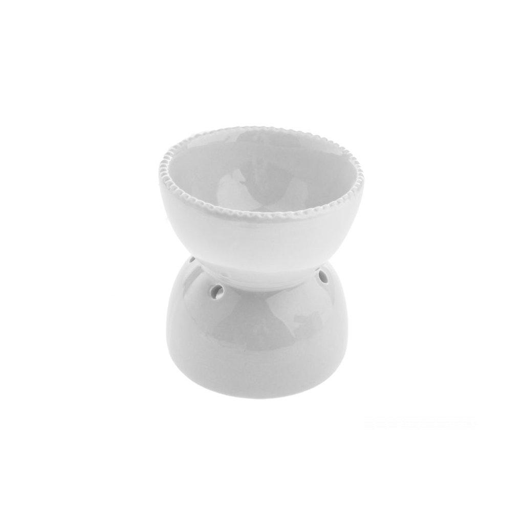 Aromalampa keramická biela 10,8×11,5×10,8cm
